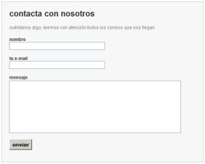 Formulario de contacto del proveedor 2