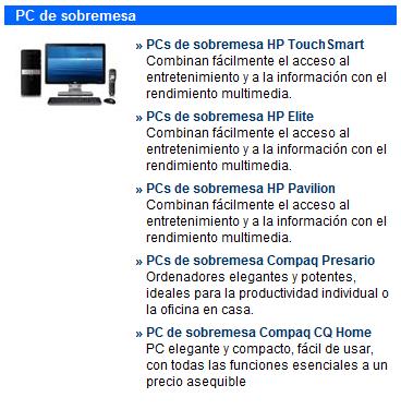 HP - PCs de sobremesa