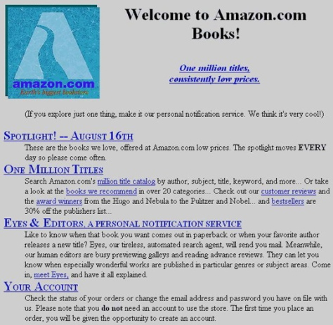 Amazon.com circa 1995